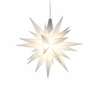 Stern Kunststoff A1e 13 cm weiß